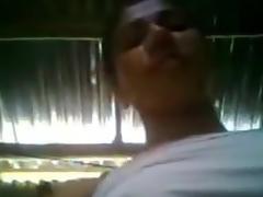 Desi Bhabhi Showcasing Soaked Arched n Fingering